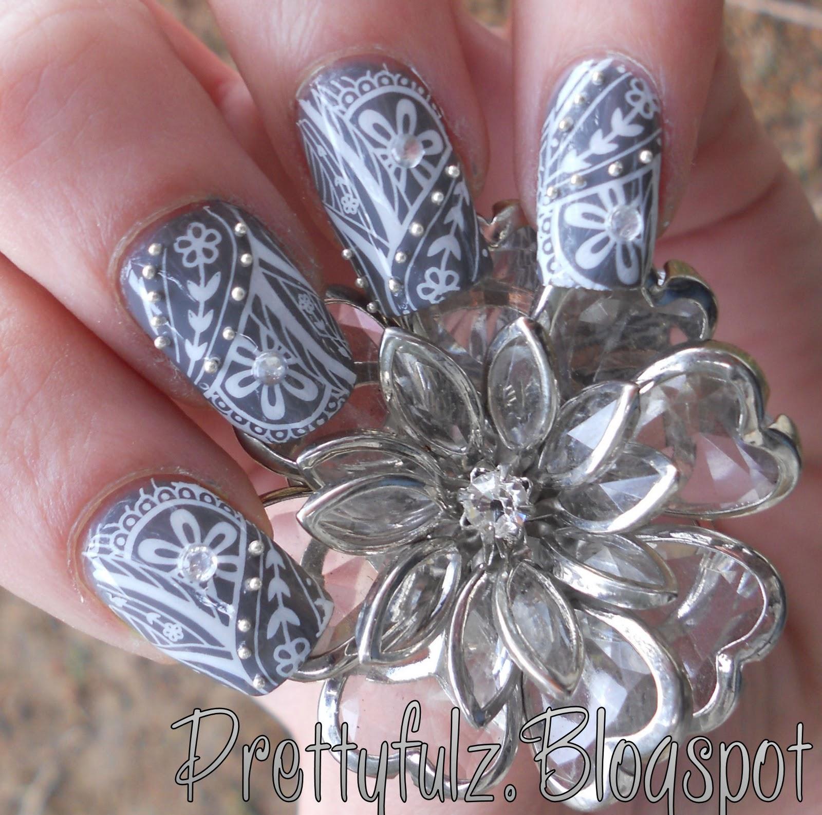 Another Flower Nail Tutorial: Prettyfulz: KONAD NAIL ART