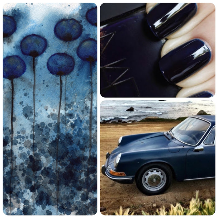 Art Deep Blue Nails Nars Vintage
