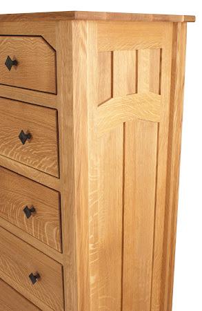 Edmonton Vertical Dresser in Oil & Wax Querter Sawn Oak