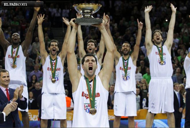 España Campeona de Europa de baloncesto 2011 (Foto de El Pais.com)