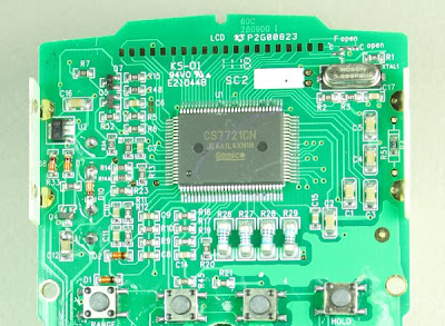 The 100-pin Semico CS7721CN chip powers the Tenma 72-7740 DMM.