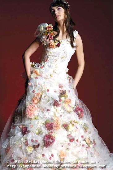 Japanese wedding dresses beyond the kimono bibi bridal for Multi colored wedding dresses