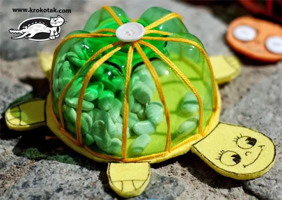 tartaruga de eva maraca de feijao