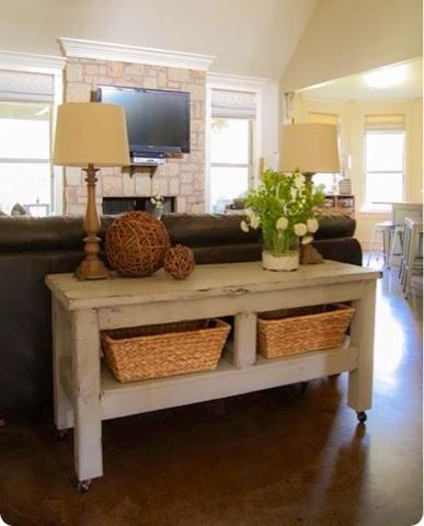 Ecleectica interiorismo la mesa tras el sofa - Mesas para el sofa ...