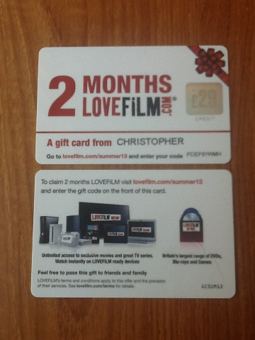 Get LoveFilm FREE with this code