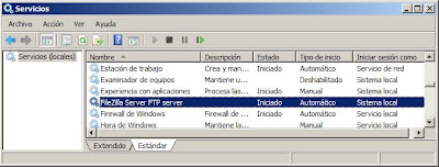 Descarga e instalación de FileZilla Server en Microsoft Windows Server 2008