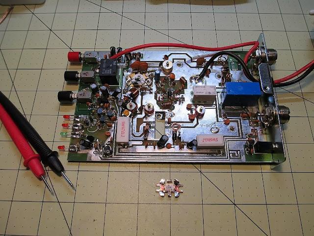 Repair of a Mirage B-310-G VHF Amplifier