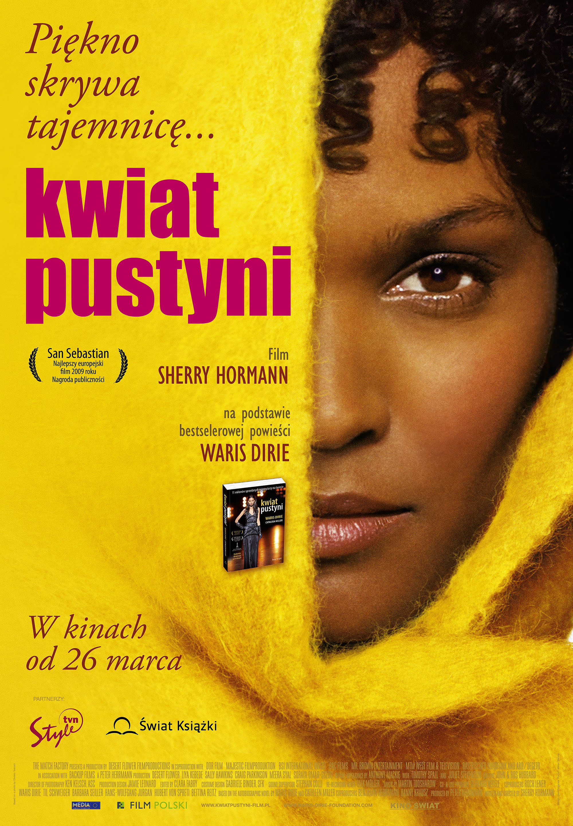 Polski plakat filmu 'Kwiat Pustyni'