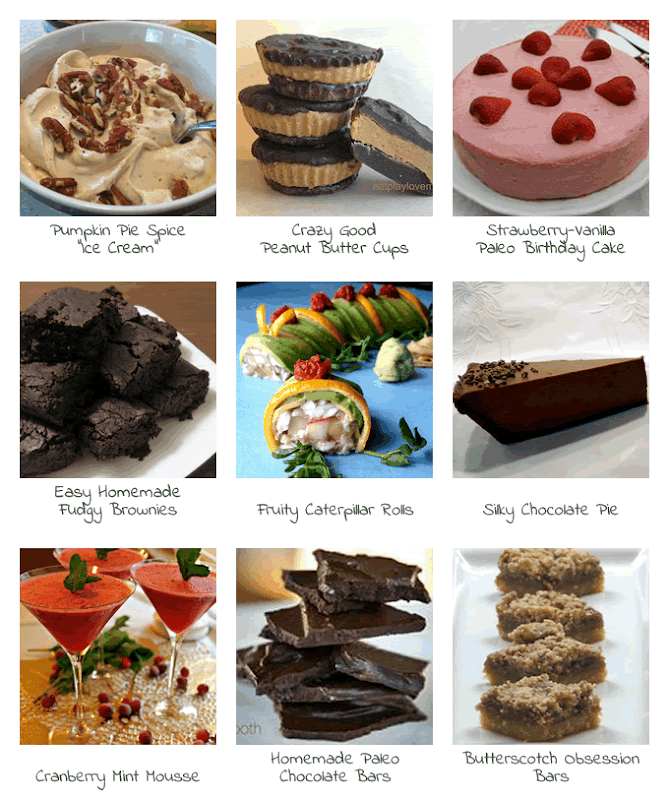 Naturally Sweetened Treats - collage of recipes