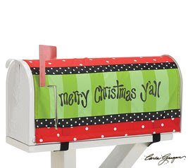 Merry Christmas,Y'All Nylon Mail Box Cover Decorative Home Decor