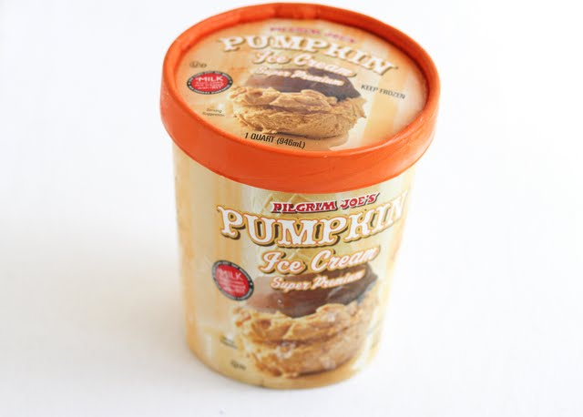 photo of a carton of pumpkin ice cream
