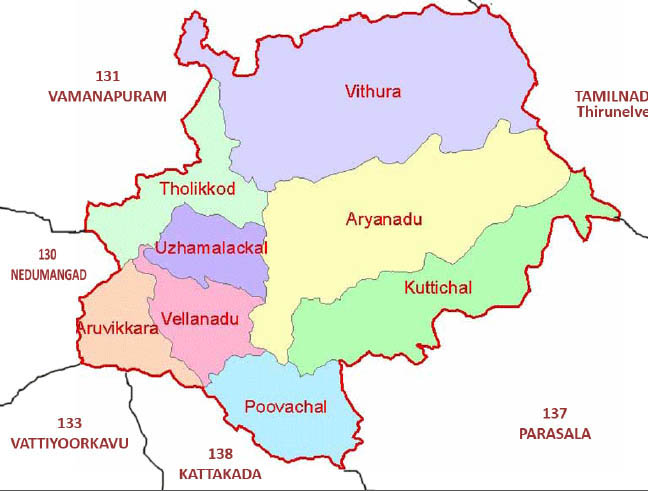 aruvikkara bye assembly election 2015 Constituency  map image
