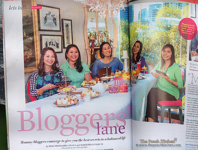 THE PEACH KITCHEN Featured at WORKING MOM July 2013