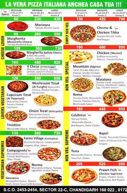 Pizza More Italia Chandigarh Menu