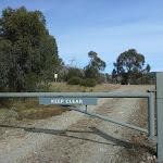 Locked Gate at car park (290026)