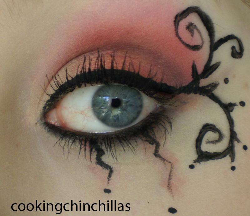 Cookingchinchillas Dramatic Orange Sunset Goth Eye Make Up