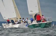 J/105s sailing marblehead nood regatta