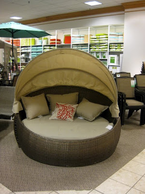 Patio Furniture Display at JCPenney at the Lehigh Valley Mall in Whitehall, PA - Photo by Michelle Judd of Taste As You Go