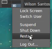 Restart option is enabled