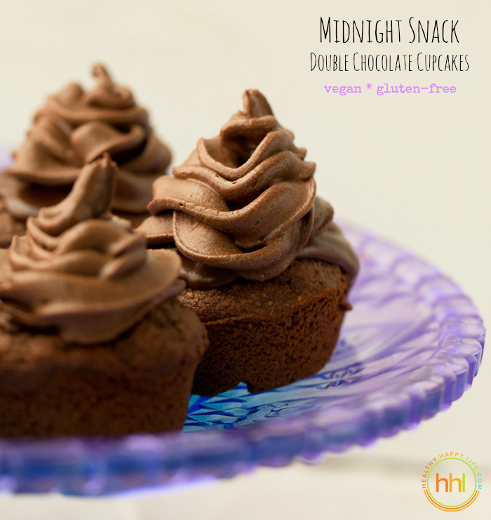 Midnight Snack Double Chocolate Fudge Vegan Cupcakes