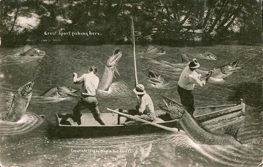Uma das história de pescador do século passado