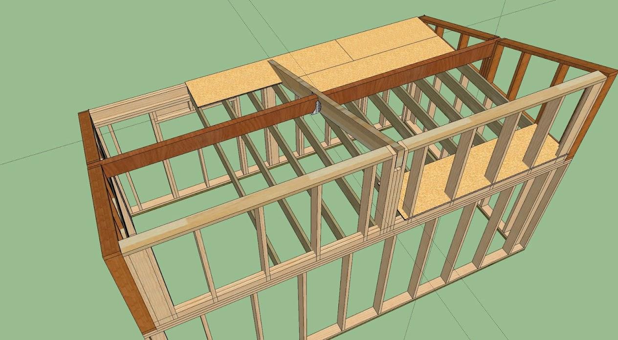 r alisation garage ossature bois avis et conseil pour. Black Bedroom Furniture Sets. Home Design Ideas