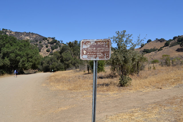 sign along Crags Road