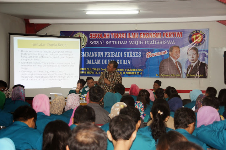 Seminar STIE Pertiwi Bekasi 2014