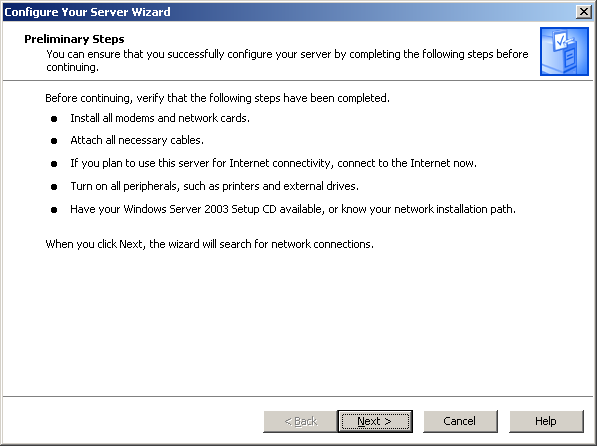 Als tech tips installing sharepoint 2007 on windows server 2003 click add or remove a role the configure your server wizard dialog appears sciox Choice Image