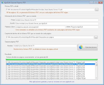 AjpdSoft Separar Páginas PDF
