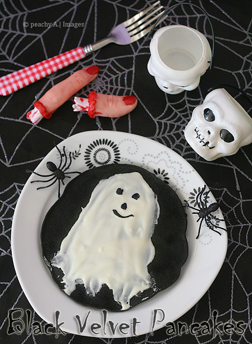 Black Velvet Pancake, a Very Halloween Breakfast...BOO!!