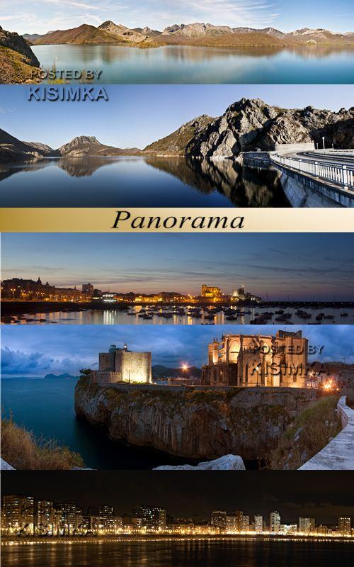 Stock Photo: Panorama with lake