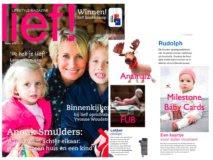 Fub, Milestone Baby Cards, Anamalz in het blad Lief