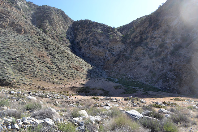 large flat area near the hot springs