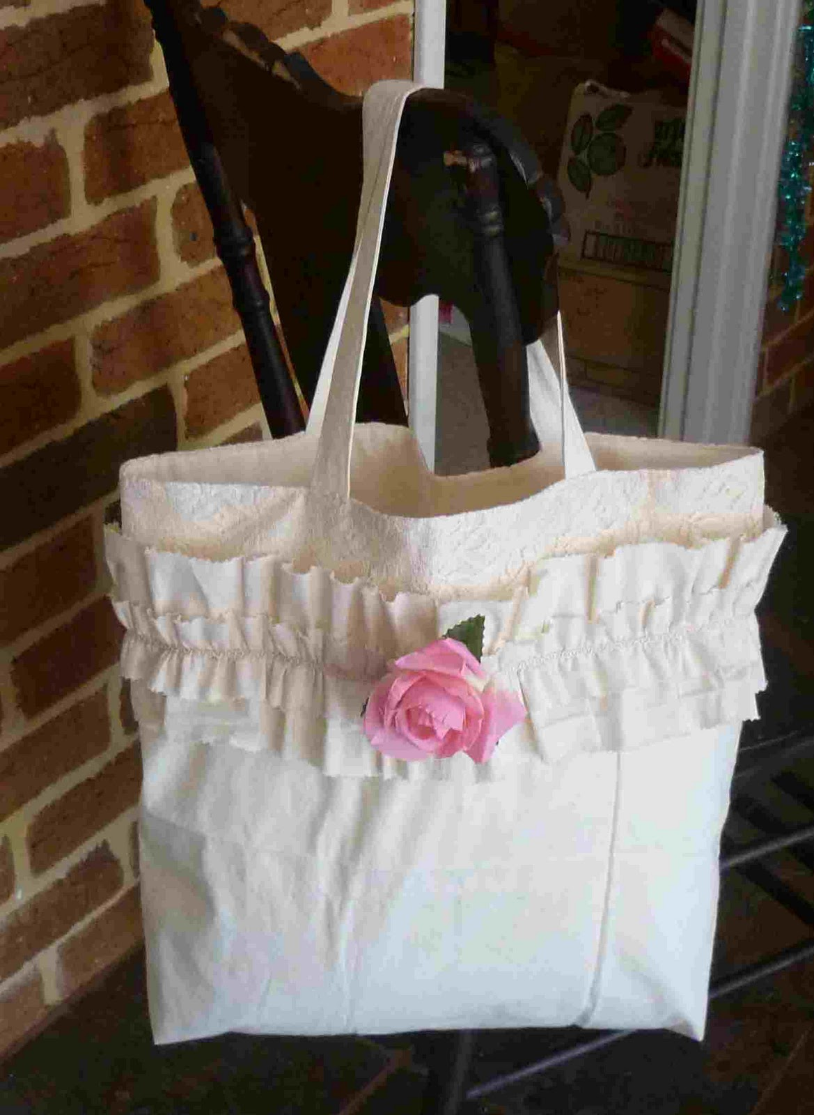 simpleliving calico double ruffle rose shabby chic bag rh simpleliving sherrie blogspot com