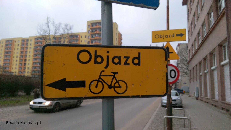 Trzeba przyznać, że objazdy są prawidłowo oznakowane
