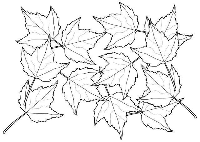 Maestra de Infantil: Hojas de otoño para colorear.