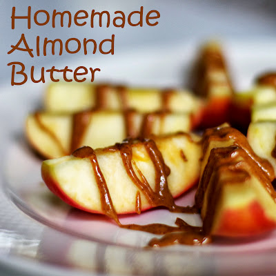 Easy almond butter - one ingredient! withinthekitchen.blogspot.com