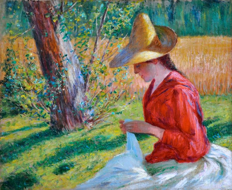 John Leslie Breck - Suzanne Hoschedé-Monet Sewing