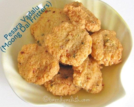 Pesara Vadalu (Moong Dal Fritters)