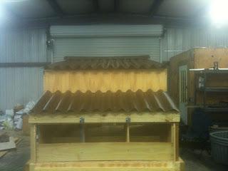 finished chicken coop design