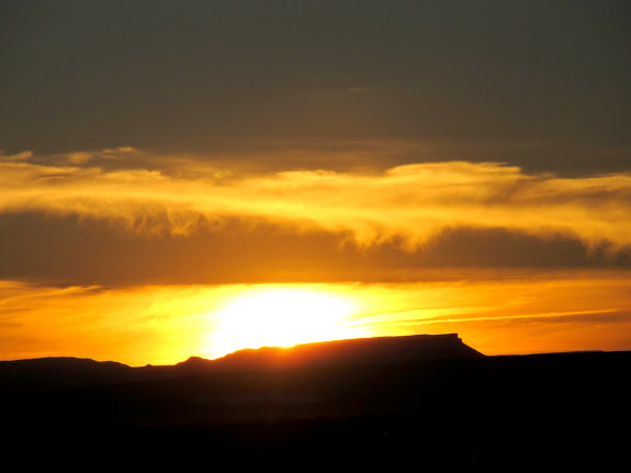 Sunset over the Flat Tops
