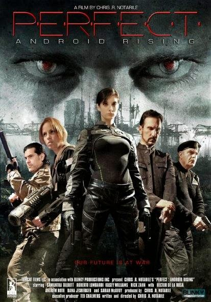 Poster Of English Movie Perfect Android Rising (2013) Free Download Full New Hollywood Movie Watch Online At Alldownloads4u.Com
