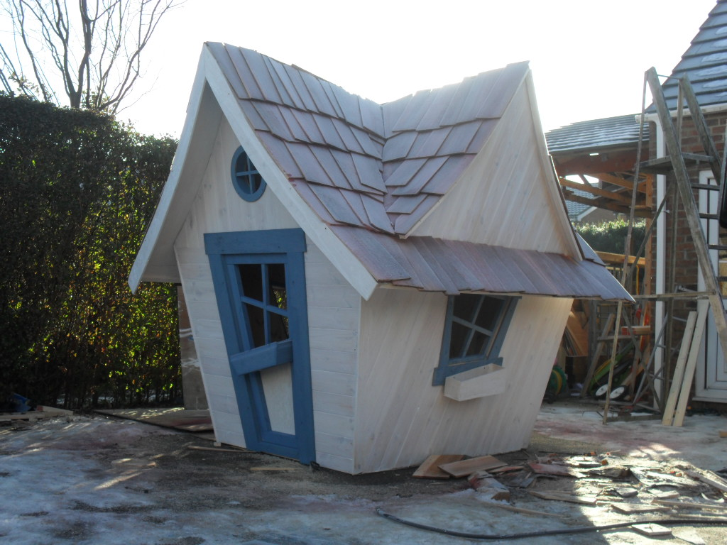 Crooked clubhouse enchanted creations playhouses for Hobbit style playhouse