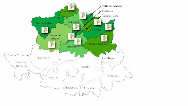 mapa del ámbito de actuación del proyecto ecoambroz