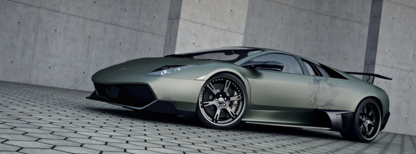 Lamborghini murcielago lp720 facebook cover