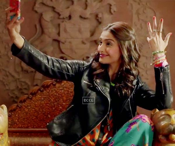Sonam Kapoor in a still from Bollywood film Khoobsurat.