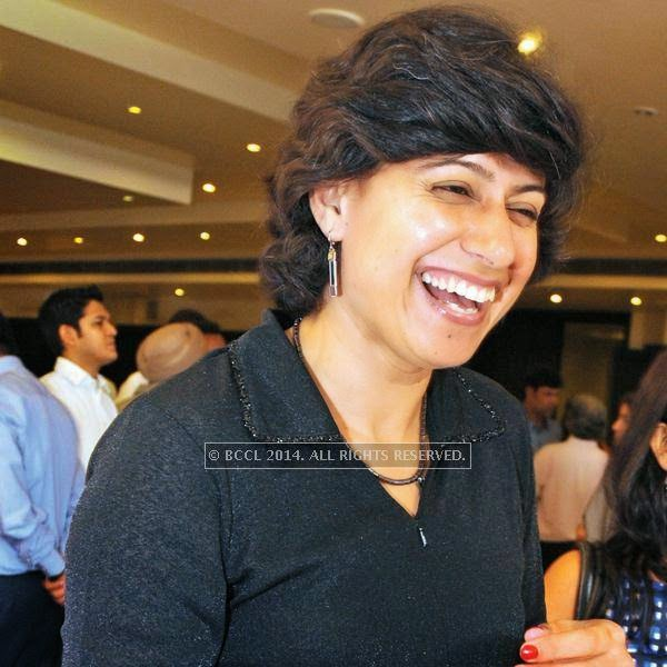 Anjum Chopra, former captain of the Indian women's cricket team  during the 25th wedding anniversary Saba Karim and Rashmi, held in Delhi.