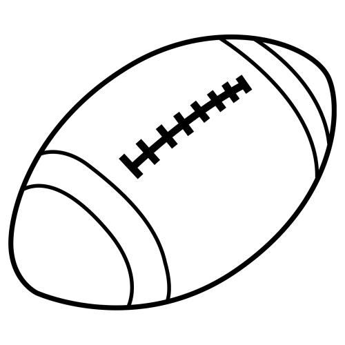 Balon de futbol americano dibujo - Imagui