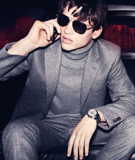 Simon Nessman by Mario Testino for Michael Kors F/W 2011-12 (detail)